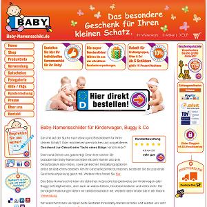 Ein Namensschild zur Taufe - baby-namensschild.de